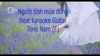 Người tình mùa đông - Beat karaoke Guitar Văn Anh (Tone Nam F)