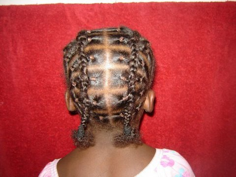 How To Do Faux French Braids Part 1 Rubber Bands Youtube
