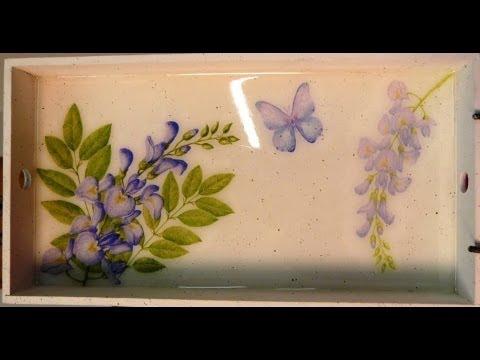 C mo decorar una bandeja con decoupage y vidrio l quido - Como decorar una buhardilla ...