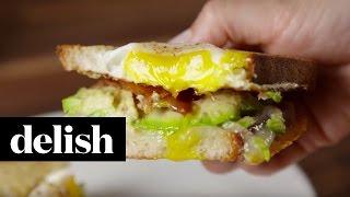 Egg in a Hole Breakfast Sandwich | Delish