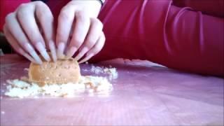 Leng Clear Long Nails Peanut Heatpad Cloth Cake