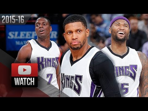 Darren Collison, Rudy Gay & DeMarcus Cousins Trio Highlights vs Rockets (2015.12.15) - TOO SICK!