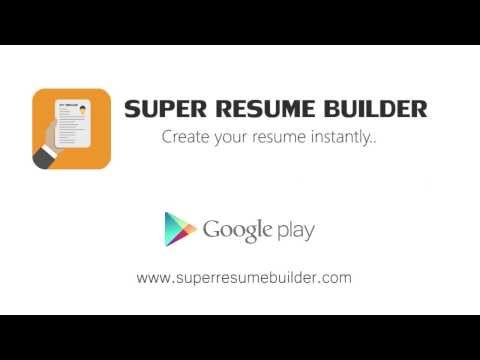 Super Resume Builder Pro, CV Business app for Android Preview 1