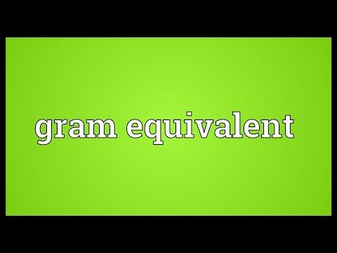 Header of gram equivalent