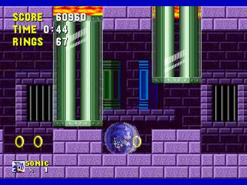 Misc Computer Games - Sonic The Hedgehog - Marble Zone