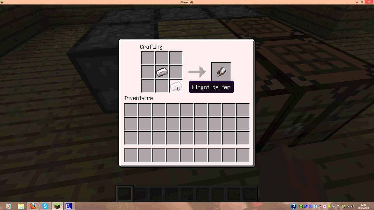 Tuto comment faire une cisaille minecraft youtube - Comment faire un evier dans minecraft ...