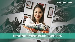 Telling Stories. Through Art. On Football Boots.