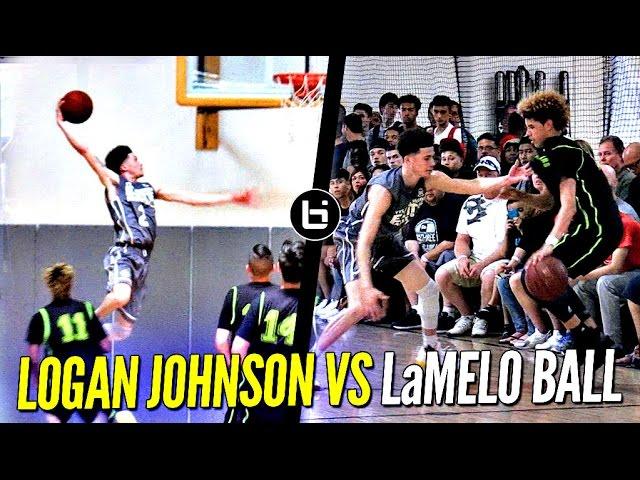 Logan Johnson vs. LaMelo Ball - Lopsided Game Gets Heated! Tyler Johnson's Younger Bro (Miami Heat)