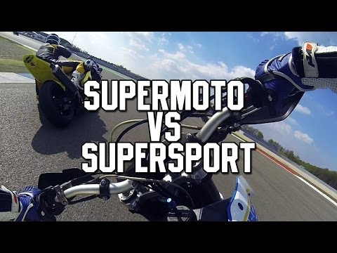 Supermoto, A Supersports Worst Nightmare (Supermoto VS Supersport @ Assen)