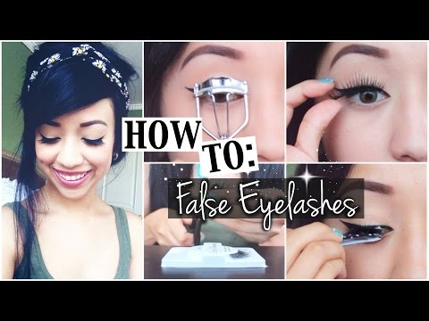 How to Apply False Eyelashes | naturallybellexo