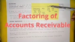 Factoring of Accounts Receivable - Casual Factoring