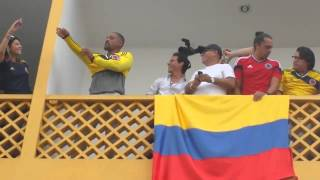 Marc Anthony y Will Smith en Neiva - Hinchas de la Seleccion Colombia