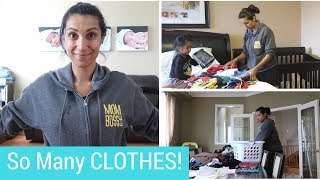 Declutter & Purge Kids Clothing and Clean with Me | Spring Cleaning  Pt. 1 | MOM BOSS OF 3