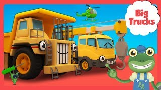 George the GIANT Dump Truck and More Big Trucks for Kids | Gecko's Garage