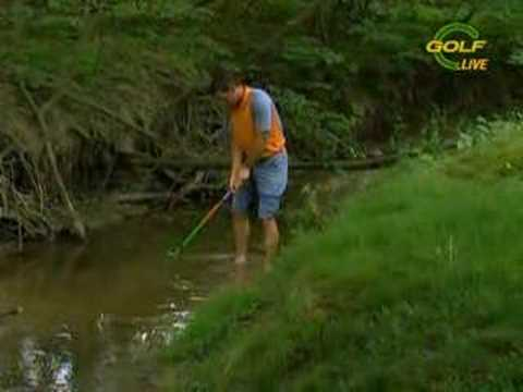 Sergio Garcia finds some water Video