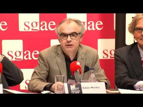 Elecciones SGAE. Rueda de prensa (parte 3).