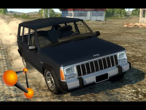 BeamNG.Drive Mod : Jeep Cherokee 1984 (Crash test)