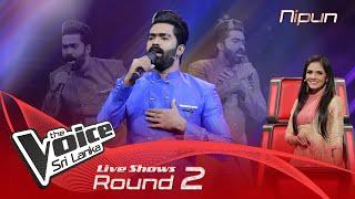 Nipun De Silva   Perada Mawu Sina Live Shows Rounds 02   The Voice Sri Lanka