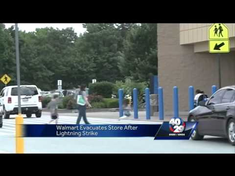 An electrical problem causes a power outage at a Fayetteville Walmart
