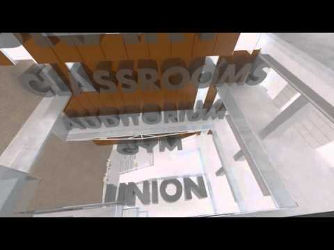 East-West University Student Life Center Animation