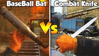 BASEBALL BAT Vs. COMBAT KNIFE! WHICH MELEE WEAPON IS BETTER? (COD WW2)