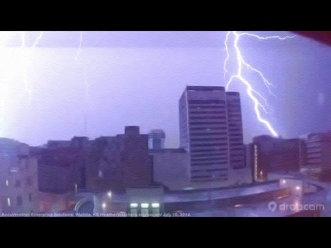 Lightning Storm on Wichita, KS Dropcam 7/10/2014