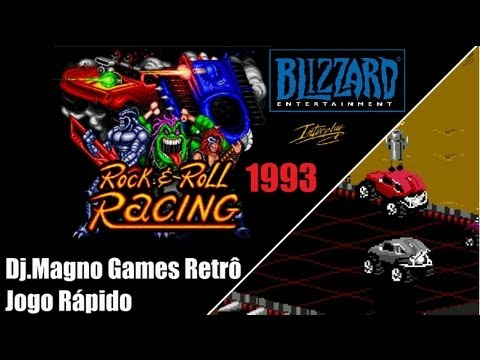Rock e Roll Racing  Blizzard Entertainment 1993 Interplay Super Nintendo Jogo Rápido