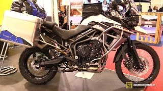 2016 Triumph Tiger XCX 800 customized by Touratech - Walkaround - 2015 Salon Moto Paris