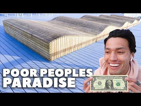 SKATEPARK BUILT FOR POOR PEOPLE