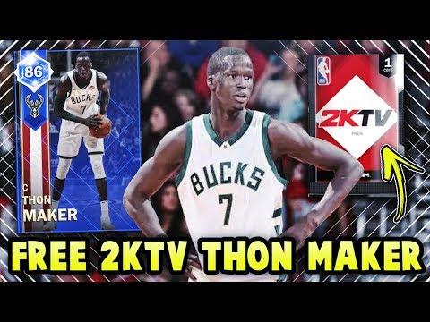 NBA 2K18 FREE THON MAKER CARD IS INSANE!! *2KTV COLLECTION* | NBA 2K18 MyTEAM GAMEPLAY