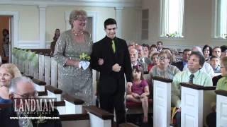 Caitlin & Phillip Bridal Party Entrance at Ceremony by Cincinnati Wedding Video Landman Productions