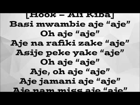 Ali Kiba ft M.I - Aje (lyric video) thumbnail