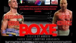 Boxe -  Alessandro Goddi Vs Laszlo Kovacs (Abbasanta 27.08.2016)