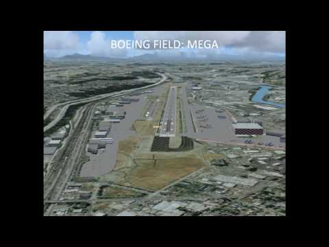Flight Simulator X Seattle Area Scenery Comparisons