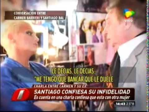 El audio secreto de la charla de Carmen y Bal sobre la infidelidad