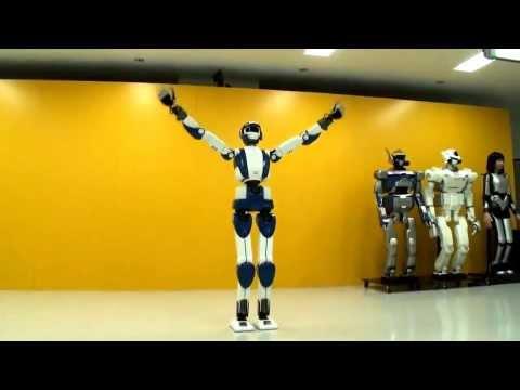 HDRobot Walking Like Your Girlfriend   HRP 4 Humanoid Robot