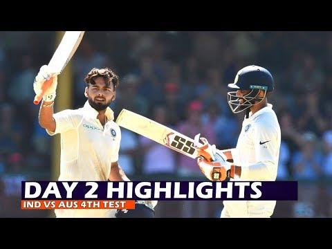 Day 2 Highlights: India vs Australia 4th Test 2019   Rishabh Pant Slams 159 Runs, Ind 622/7