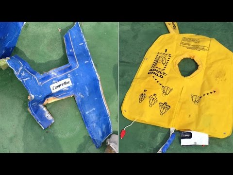 First images of EgyptAir plane wreckage released by Egyptian army