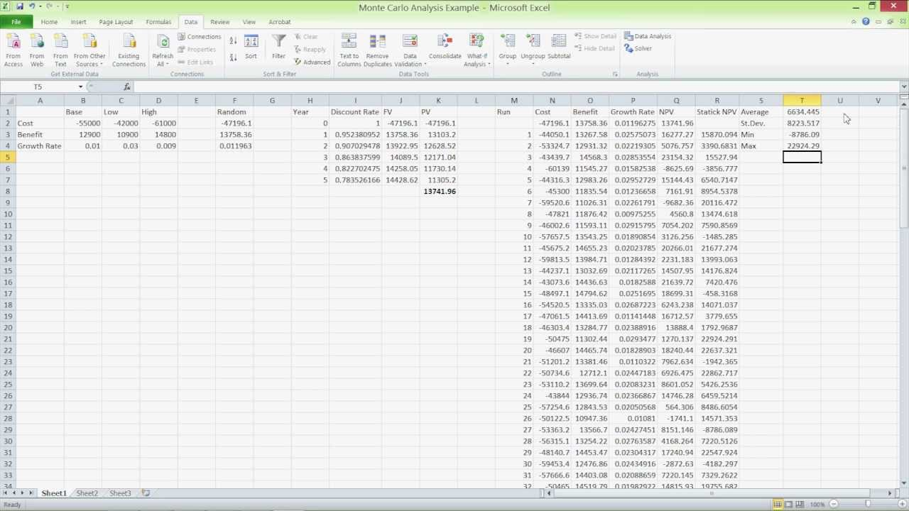 monte carlo analysis excel