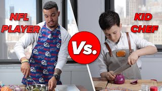 Kid Chef Vs. NFL Player: Cooking Challenge