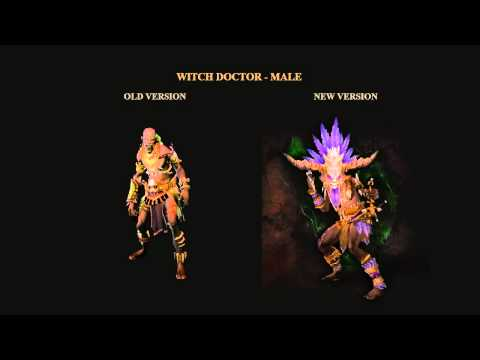 Diablo 3 - Witch Doctor - Male old animation vs new
