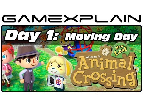 Animal Crossing: New Leaf - Day 1: Moving Day (3DS Video Preview)