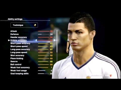 Cristiano Ronaldo - Skills / Stats PES 2013 - Videoteka.Net