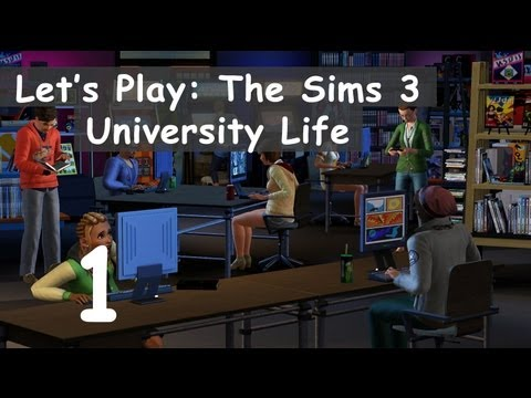 Let's Play: The Sims 3 University Life - [Part 1] - Create-A-Sim