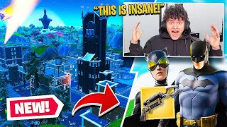 FaZe Jarvis Reacts to BATMAN in FORTNITE!! (INSANE)