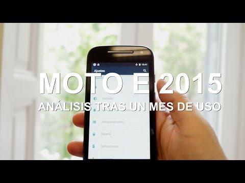 Moto E 2015, tras un mes de uso