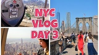NEW YORK CITY VLOG / DAY 3 / HELICOPTER FLIGHT,BROOKLYN BRIDGE & EMPIRE STATE - (HD)