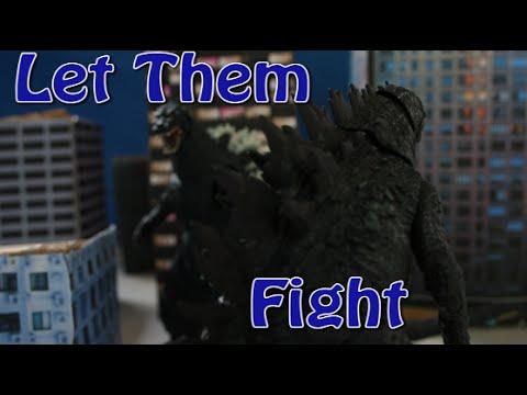 Godzilla 2014 vs Godzilla 1994 NECA (Stop Motion)