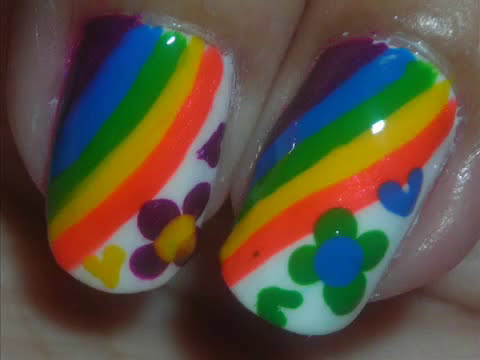 Nail Art   Hippie Party   Dise o de U as