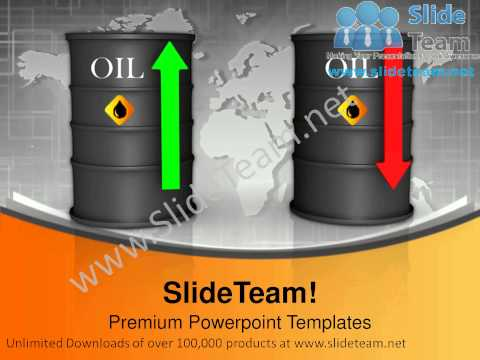 Upwards And Downwards Oil Prices Petroleum Finance PowerPoint Templates ppt Themes 1112 Slides Backgrounds